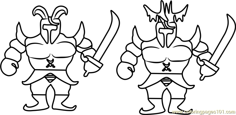 Royal Guards Undertale Coloring Page