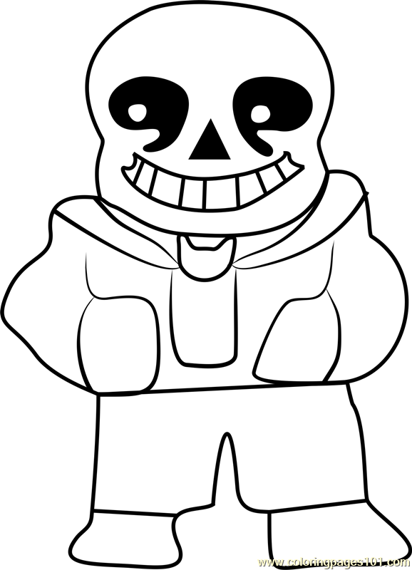 Sans Undertale Coloring Page For Kids - Free Undertale Printable Coloring  Pages Online For Kids - ColoringPages101.com Coloring Pages For Kids