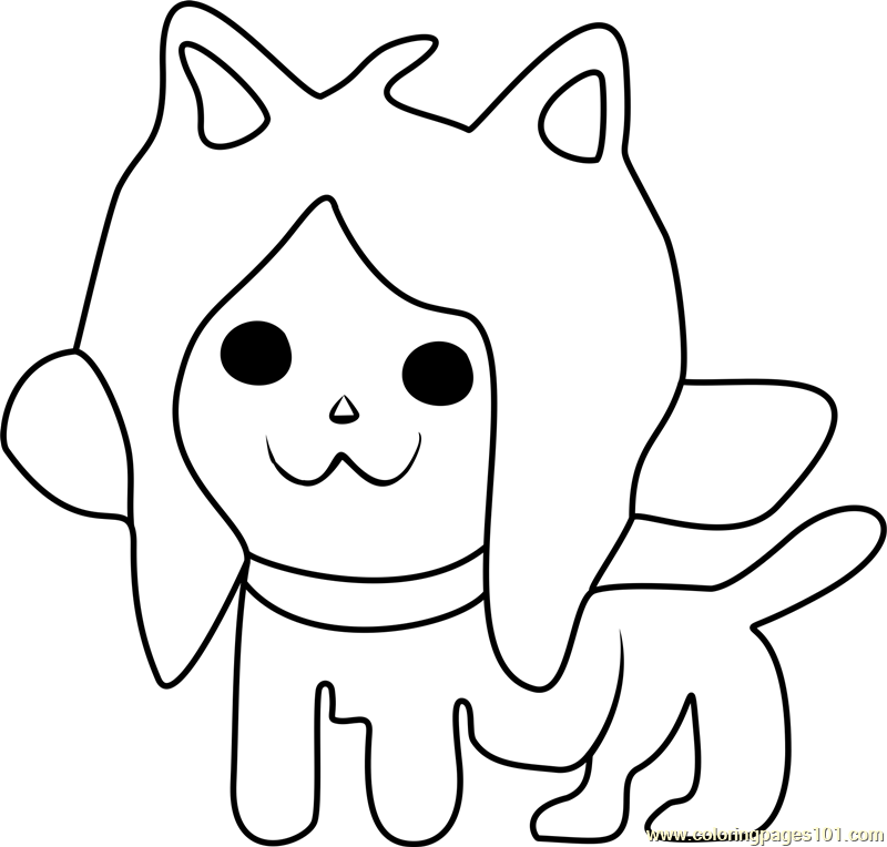 Temmie undertale coloring page free undertale coloring for Undertale coloring pages