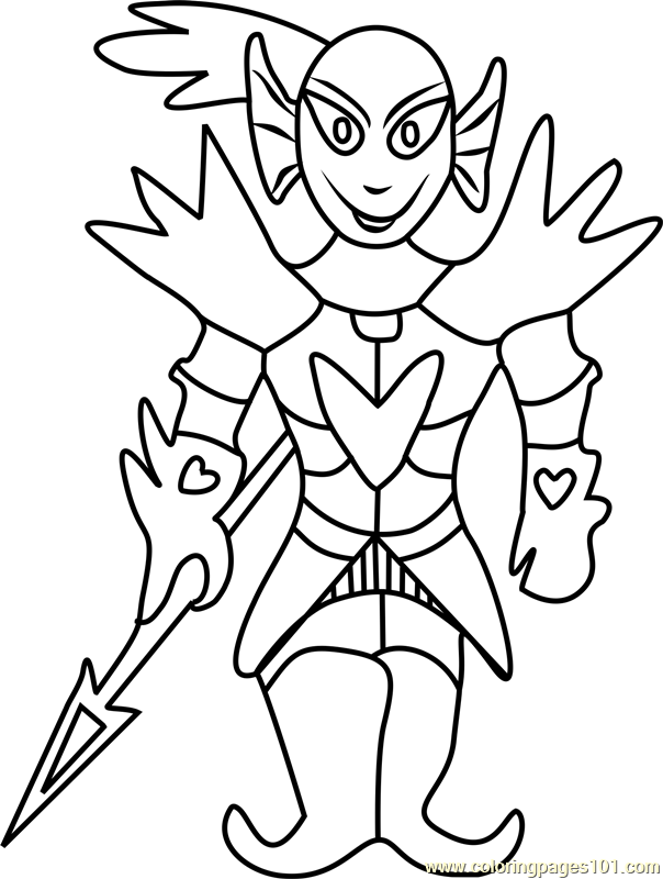 undying undertale coloring page