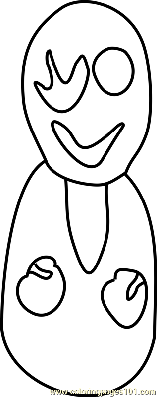 W D Gaster Undertale Coloring Page