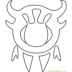 Astigmatism Undertale coloring page