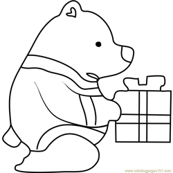 Blue Bear Undertale Free Coloring Page for Kids