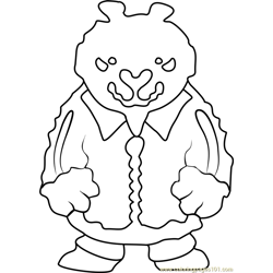 Brown Bear Undertale Free Coloring Page for Kids
