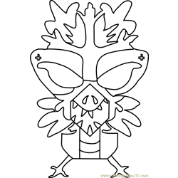 Chilldrake Undertale coloring page
