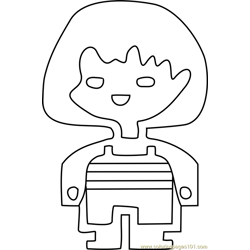 Frisk Undertale coloring page