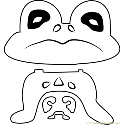 Froggit Undertale coloring page