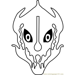 Gaster Blaster Undertale coloring page