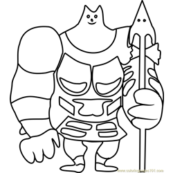 Greater Dog Undertale Free Coloring Page for Kids