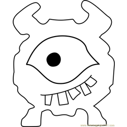 Library Loox Undertale Free Coloring Page for Kids