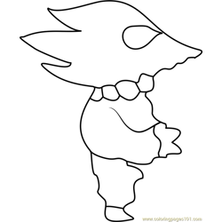 Lizard Librarian Undertale Free Coloring Page for Kids