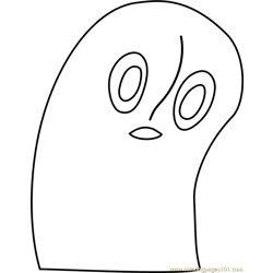 napstablook undertale coloring page