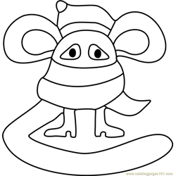 Scarved Mouse Undertale Free Coloring Page for Kids