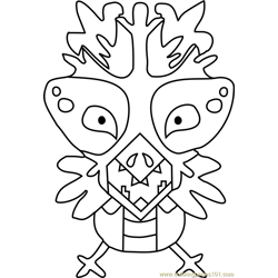 Snowdrake Undertale Free Coloring Page for Kids