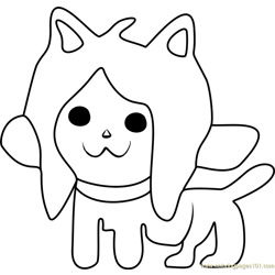 Temmie Undertale Free Coloring Page for Kids