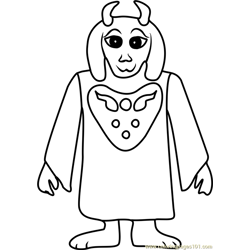 Toriel Undertale Free Coloring Page for Kids