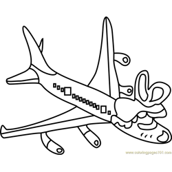 Tsunderplane Undertale Free Coloring Page for Kids