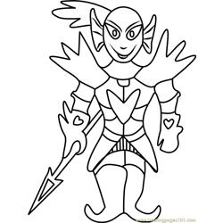 Undying Undertale Free Coloring Page for Kids
