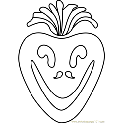 Vegetoid Undertale Free Coloring Page for Kids