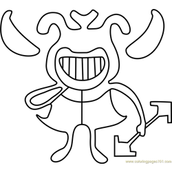 Whimsalot Undertale Free Coloring Page for Kids
