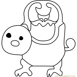 Woshua Undertale Free Coloring Page for Kids