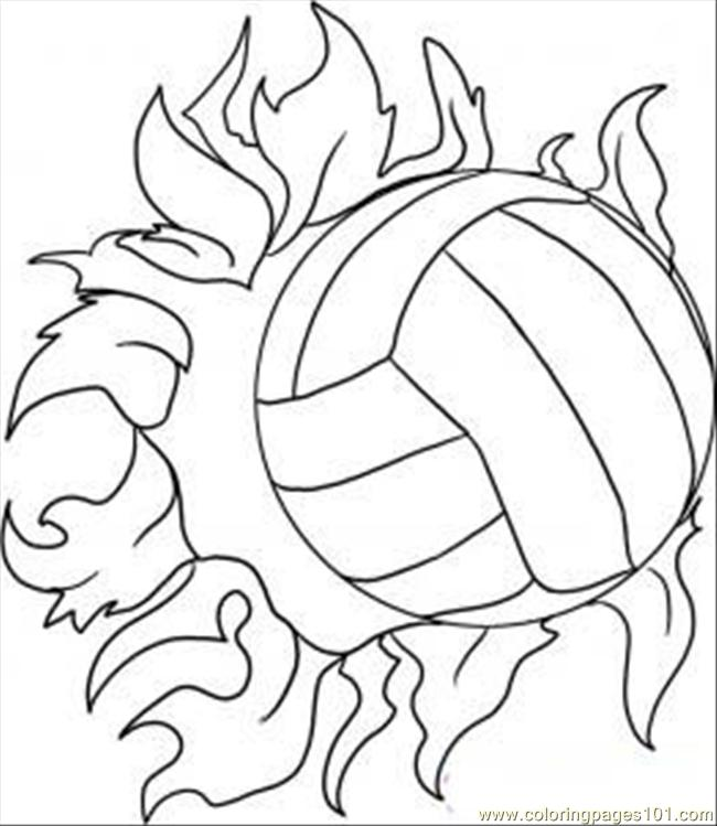 Draw A Volleyball Step 5 Coloring Page Free Volleyball Coloring