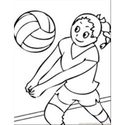 Volleyball Ink T coloring page