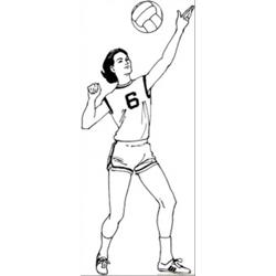 Woman Plays Volleyball
