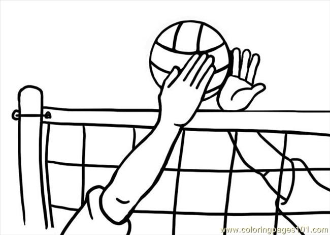 Volleyball1 coloring page