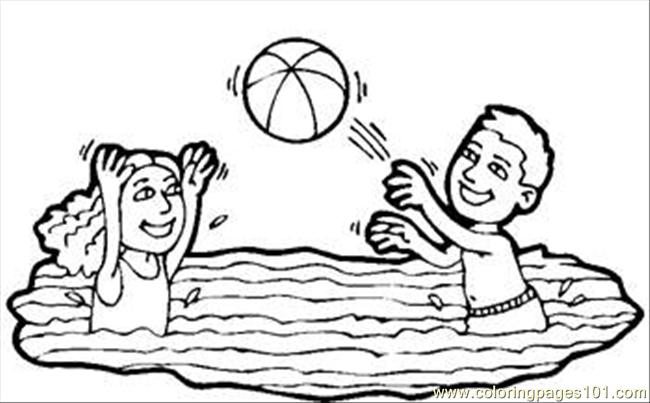 Water Volleyball Rdax 65 Coloring Page Free Volleyball