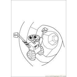 Wall E 62 Free Coloring Page for Kids