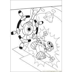 Wall E 65 Free Coloring Page for Kids