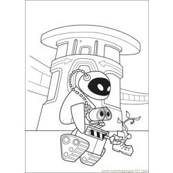 Wall E 73 Free Coloring Page for Kids