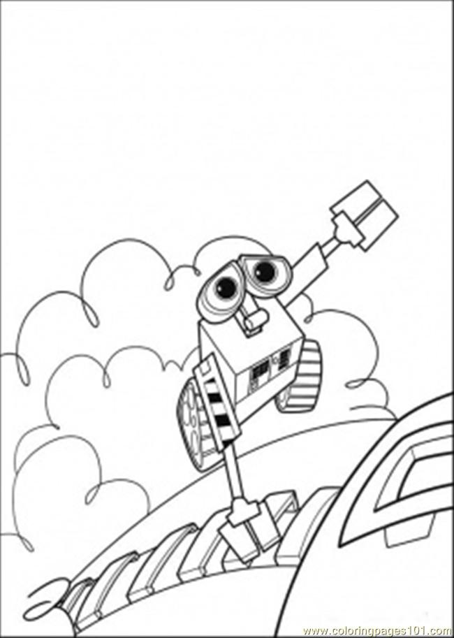 Wall E Coloring Pages Free Printable : Wall e is flying away coloring page free printable pages