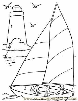 001 Sail Boat Coloring Pages Coloring Page