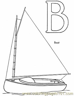 004 Boat Coloring Page Coloring