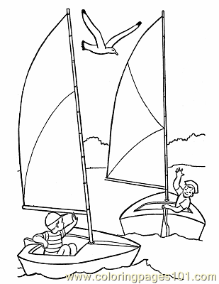 005 Sail Boat Printables Coloring