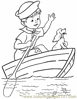 008 kid coloring page boat coloring page