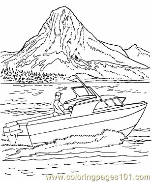 009 Power Boat Picture Coloring Page