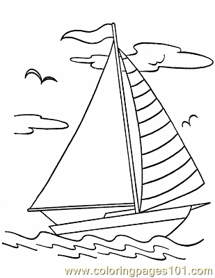016 Boats To Print Color Coloring Page