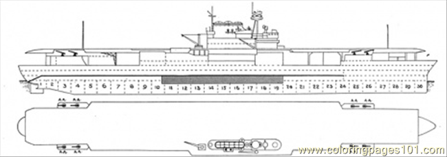 Aircraft Carrier Scheme Coloring Page