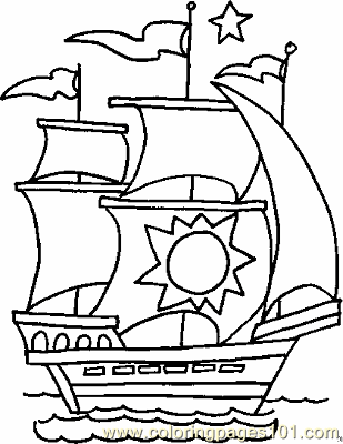 Boat Coloring Page 01 Copy Coloring Page