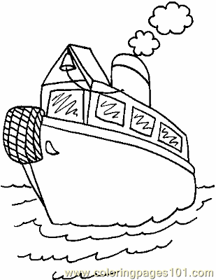 Boat Coloring Page 02 Copy