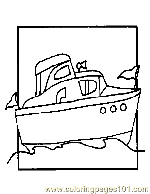 Boat Coloring Page 06 Copy Coloring Page