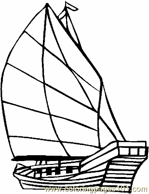 Boat Coloring Page 07 Copy Coloring Page