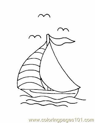 Boat Coloring Page 13 Coloring Page