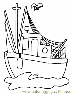 Boat Coloring Page 14 Copy Coloring Page