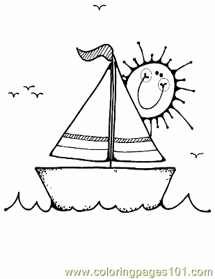 Boat Coloring Page 16 Copy Coloring Page