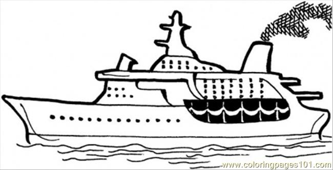 Cruise On The Sea Coloring Page