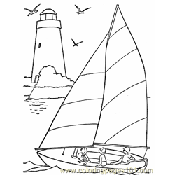 001 Sail Boat Coloring Pages